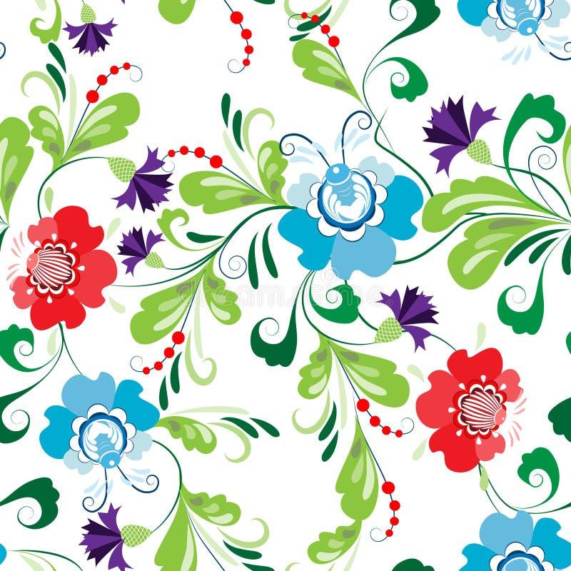 Sömlös abstrakt blom- modell 1 royaltyfri illustrationer