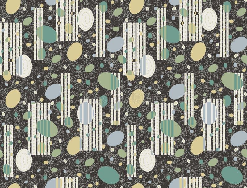 Sömlös abstrakt dekorativ motivbakgrund royaltyfri illustrationer