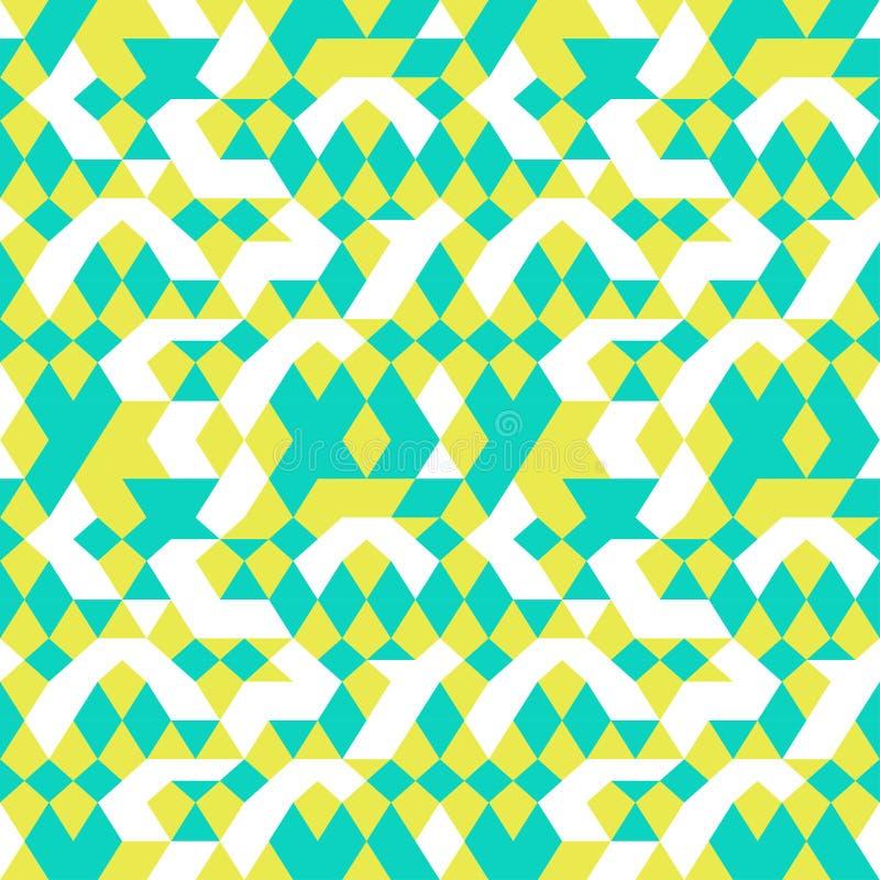 Sömlös abstrakt geometrisk bakgrundsgräsplanvit vektor illustrationer