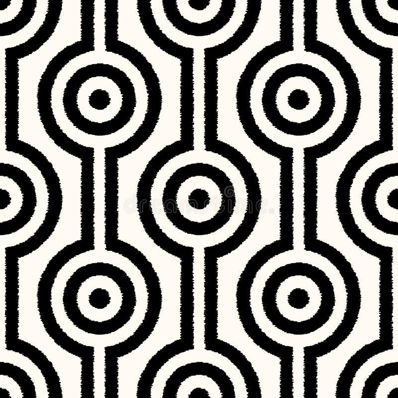 Sömlös abstrakt geometrisk ingreppsmodell royaltyfri illustrationer