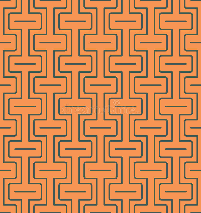 Sömlös abstrakt geometrisk modell med linjer och rektanglar - vektor eps8 royaltyfri illustrationer