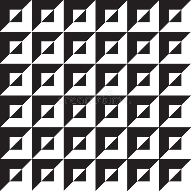 Sömlös abstrakt geometrisk modellbakgrund för op konst stock illustrationer