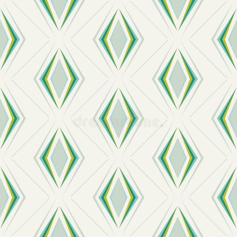 Sömlös abstrakt geometrisk prydnadmodell royaltyfri illustrationer