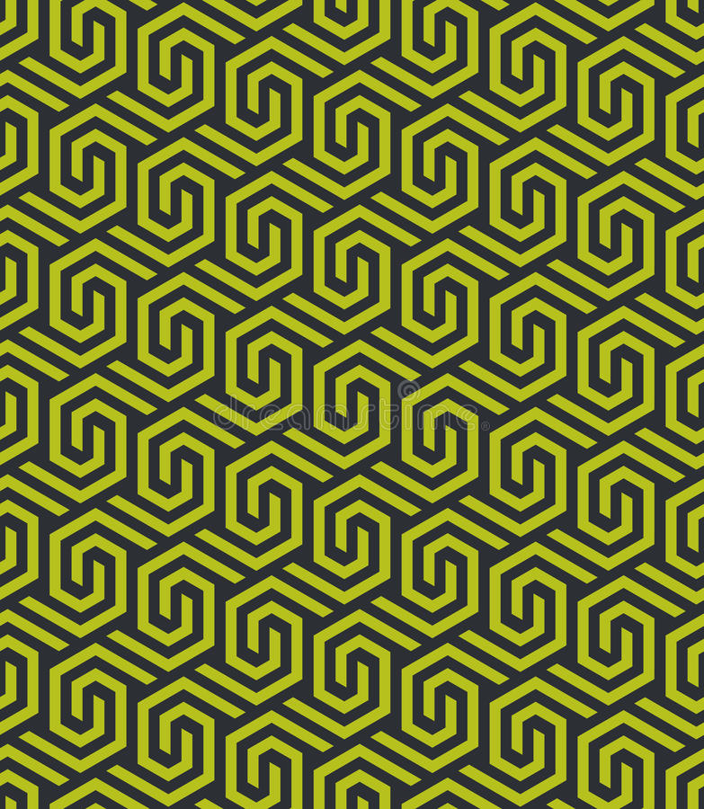 Sömlös abstrakt geometrisk sexhörnig modell - vektor eps8 royaltyfri illustrationer