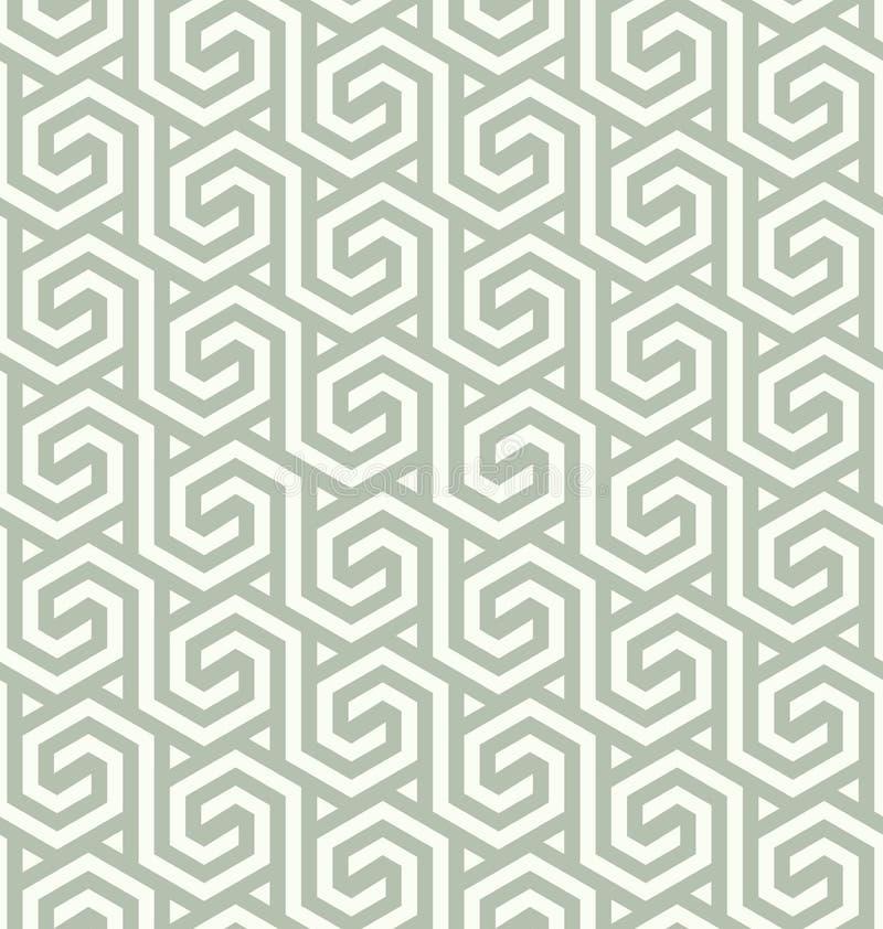 Sömlös abstrakt geometrisk sexhörnig modellvektor eps8 royaltyfri illustrationer