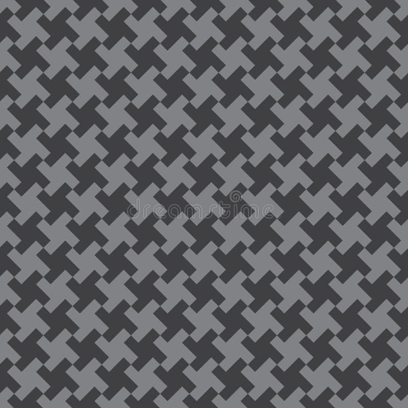 Sömlös abstrakt geometrisk vävmodellbakgrund royaltyfri illustrationer