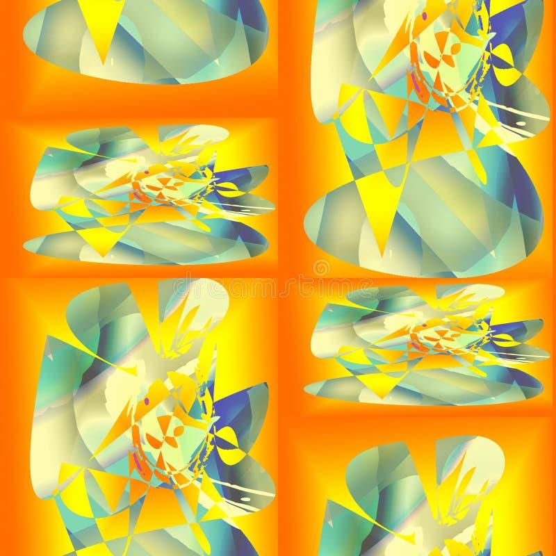 Sömlös abstrakt modell av linjer och fläckar vektor illustrationer
