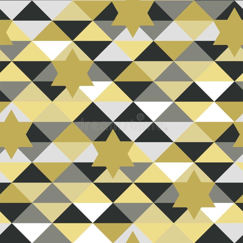 Sömlös abstrakt modell i vektor med stjärnor stock illustrationer