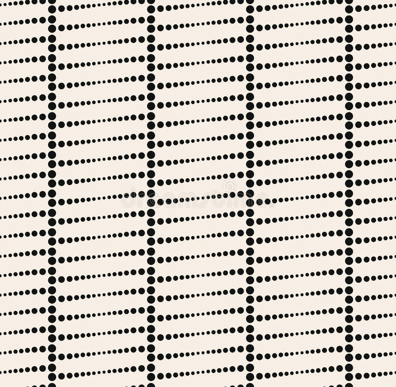 Sömlös abstrakt prickmodell stock illustrationer