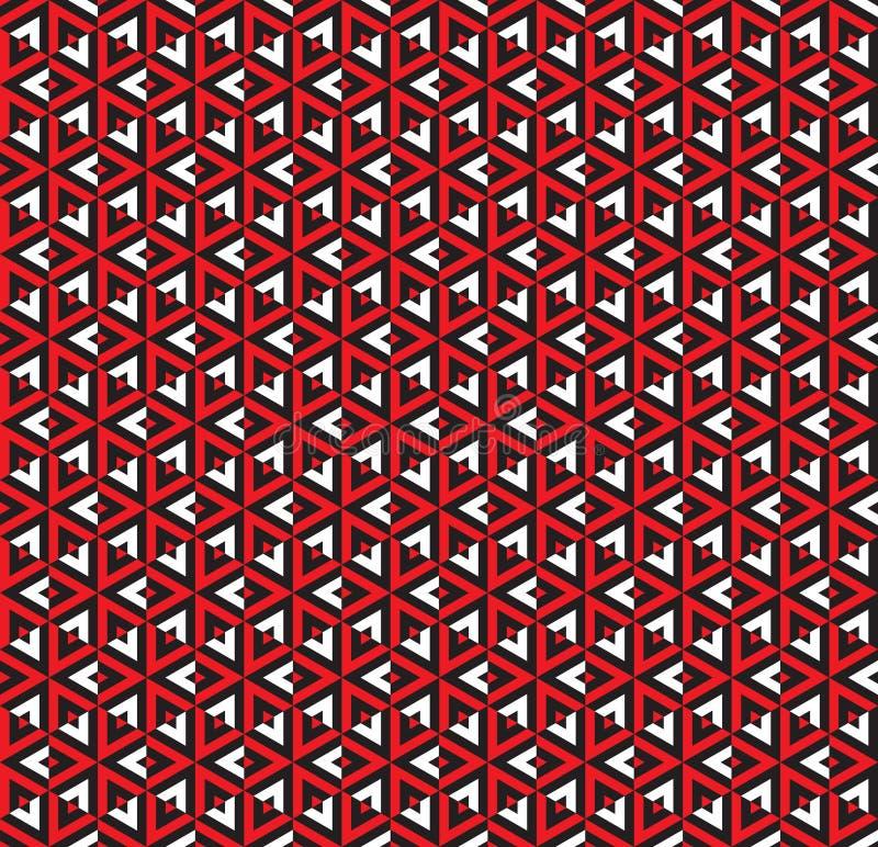 Sömlös abstrakt sakral geometritriangelmodell vektor illustrationer