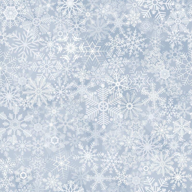 Sömlös abstrakt snöflingabakgrund vektor illustrationer