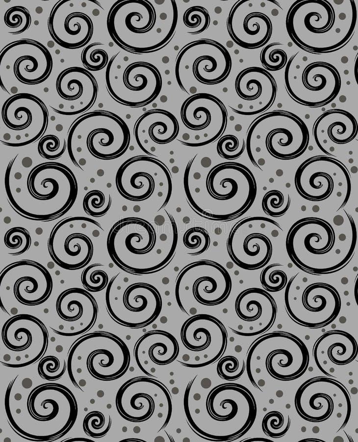 Sömlös abstrakt svart grå modell stock illustrationer