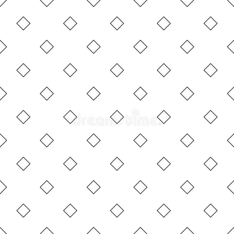 Sömlös abstrakt svartvit bakgrund för diagonalfyrkantmodell - enkel rastrerad geometrisk vektorillustration vektor illustrationer
