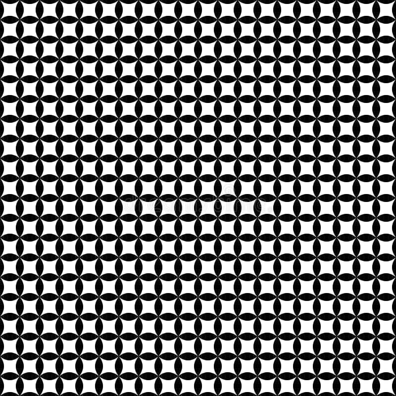 Sömlös abstrakt svartvit modell stock illustrationer