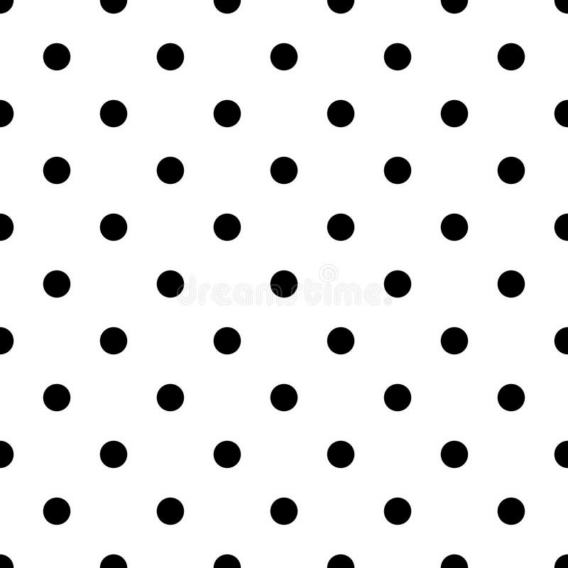 Sömlös abstrakt svartvit prickmodell - enkelt rastrerat vektorbakgrundsdiagram från cirklar stock illustrationer