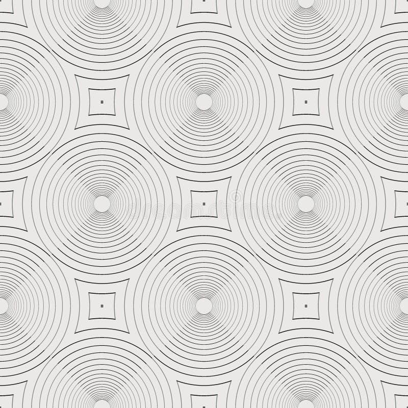 Sömlös Art Deco Linear Pattern Texture bakgrundstapet stock illustrationer