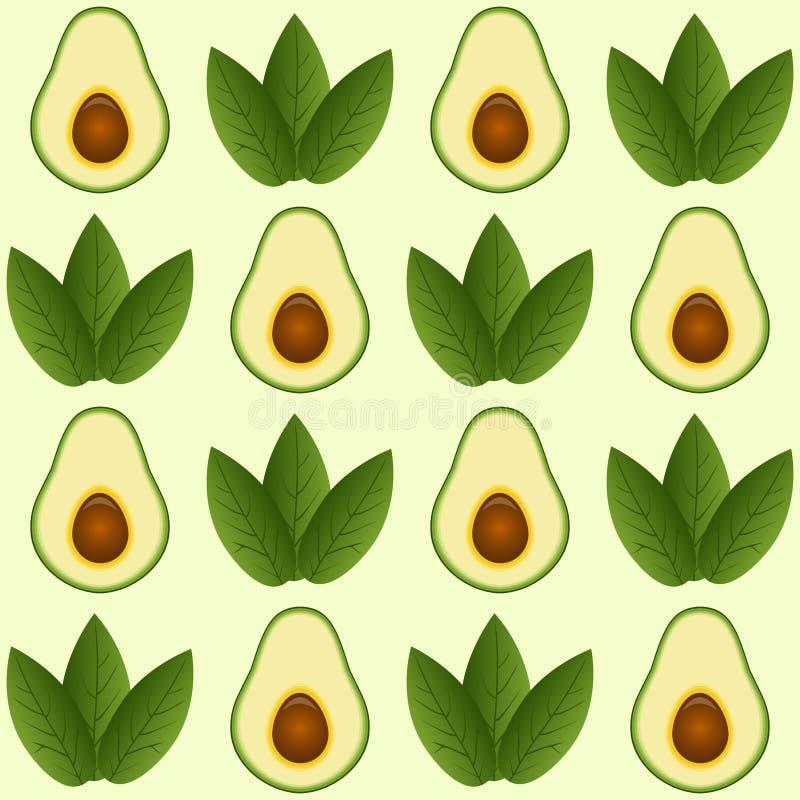 Sömlös avokadomodell royaltyfri illustrationer