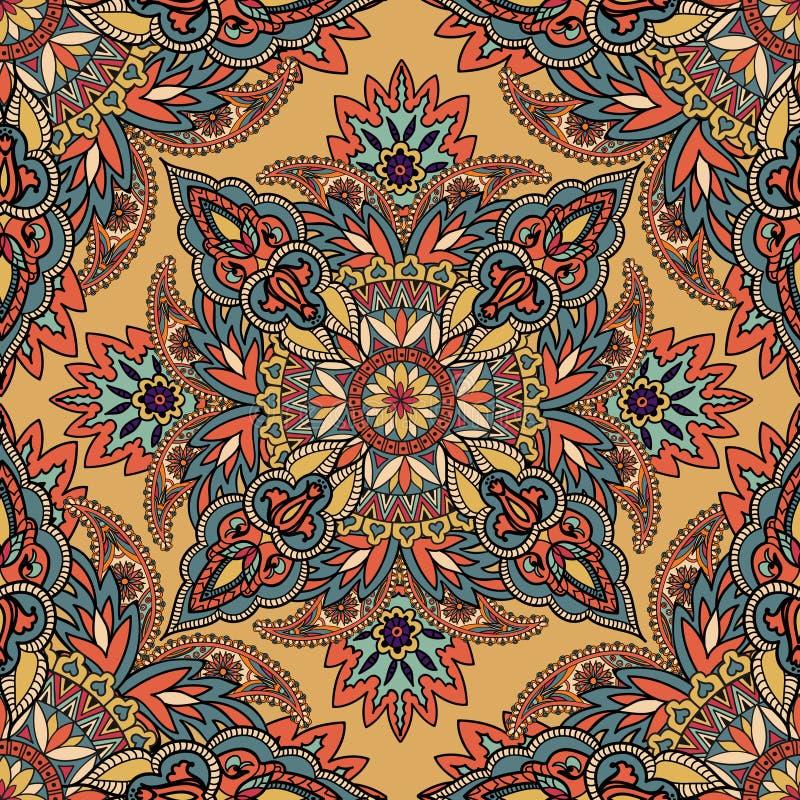 Sömlös backg för abstrakt blom- geometrisk prydnad för modell arabisk royaltyfri illustrationer