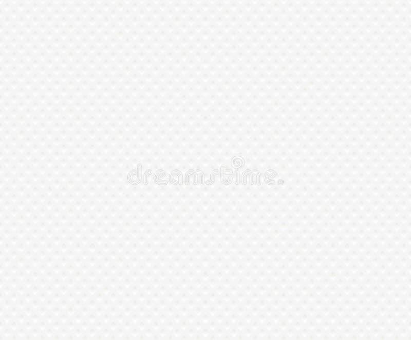 Sömlös bakgrund av den texturerade vitbokservetten Texturera präglad fyrkantig form Modell för påfyllning för webbsida för silkes royaltyfri illustrationer