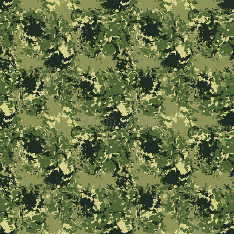 Sömlös bakgrund av en kamouflage stock illustrationer