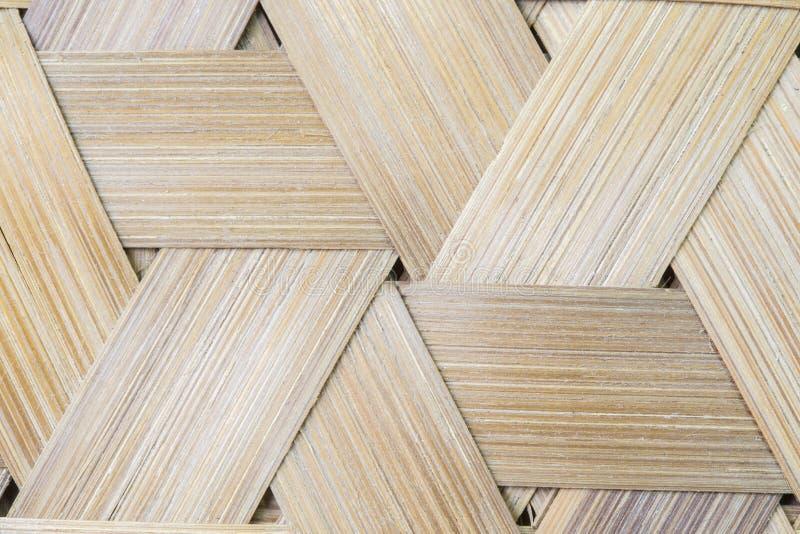 Sömlös bakgrund för bambuvävtriangel fotografering för bildbyråer