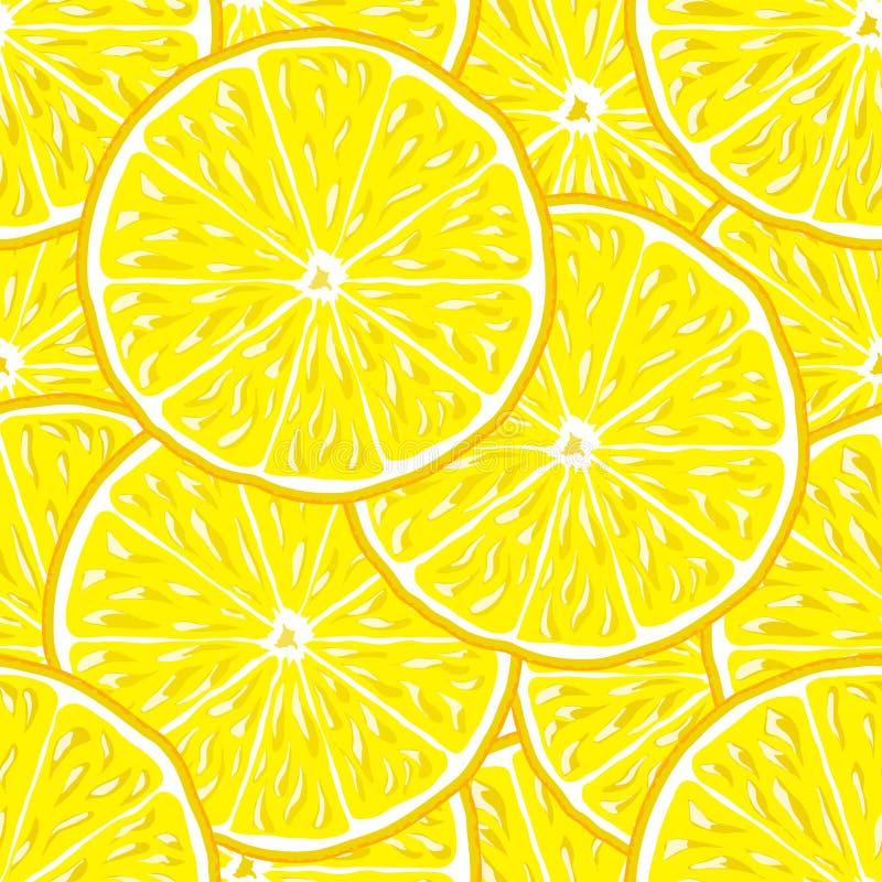 Sömlös bakgrund för citron vektor illustrationer