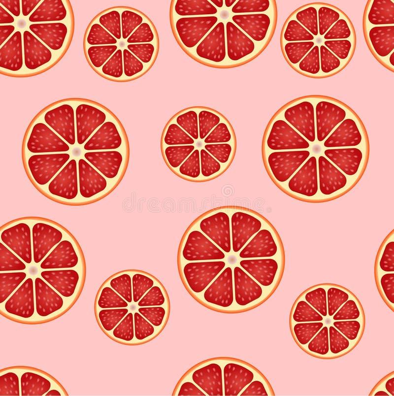 Sömlös bakgrund för grapefrukt vektor illustrationer