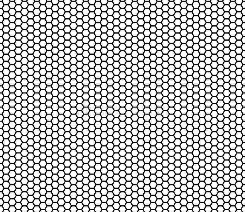 Sömlös bakgrund för honungskakamodellvektor royaltyfri illustrationer