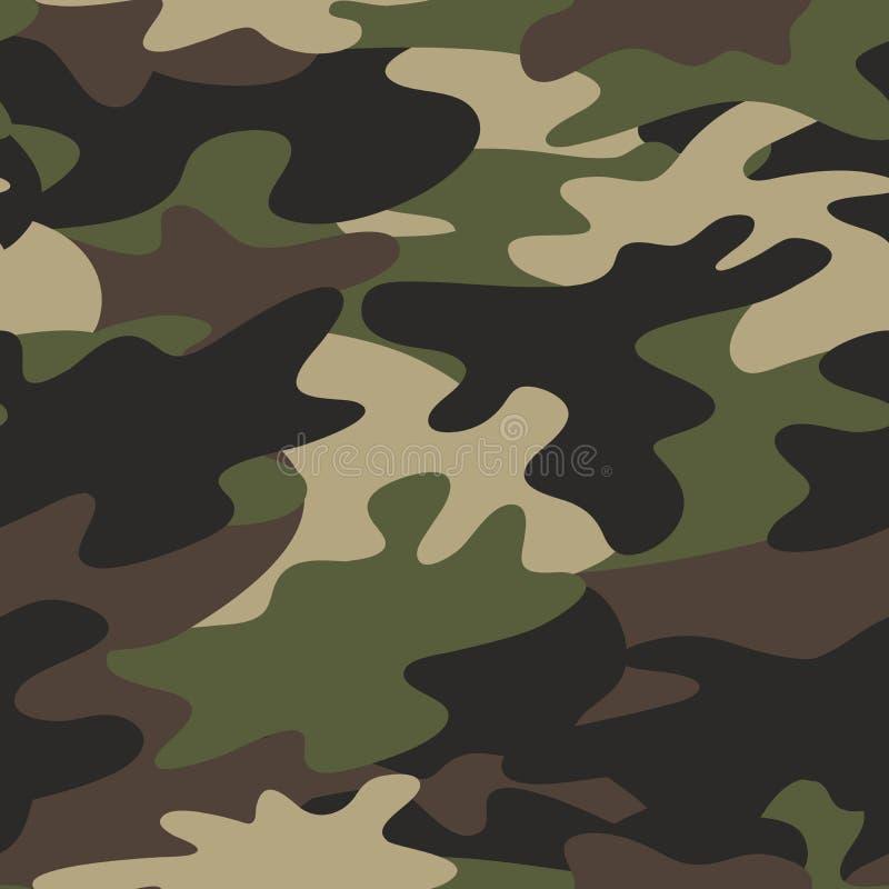 Sömlös bakgrund för kamouflagemodellmilitär vektor illustrationer