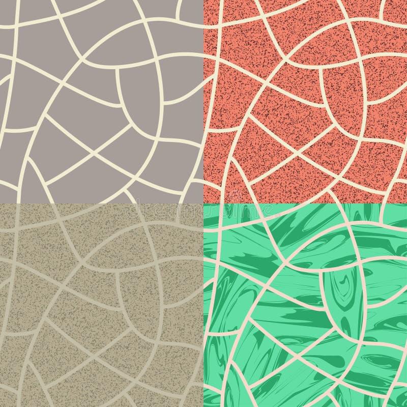 Sömlös bakgrund för kullersten vektor illustrationer