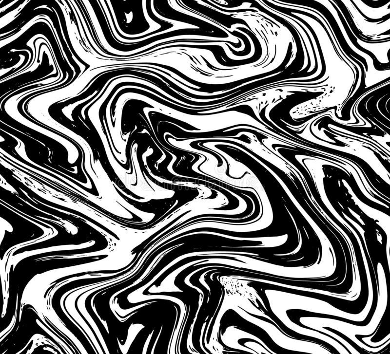 Sömlös bakgrund för marmortextur Abstrakt vätskemodell för vätskeeffektfärg Färgrik sömlös modellräkning för textil som slår in royaltyfri illustrationer