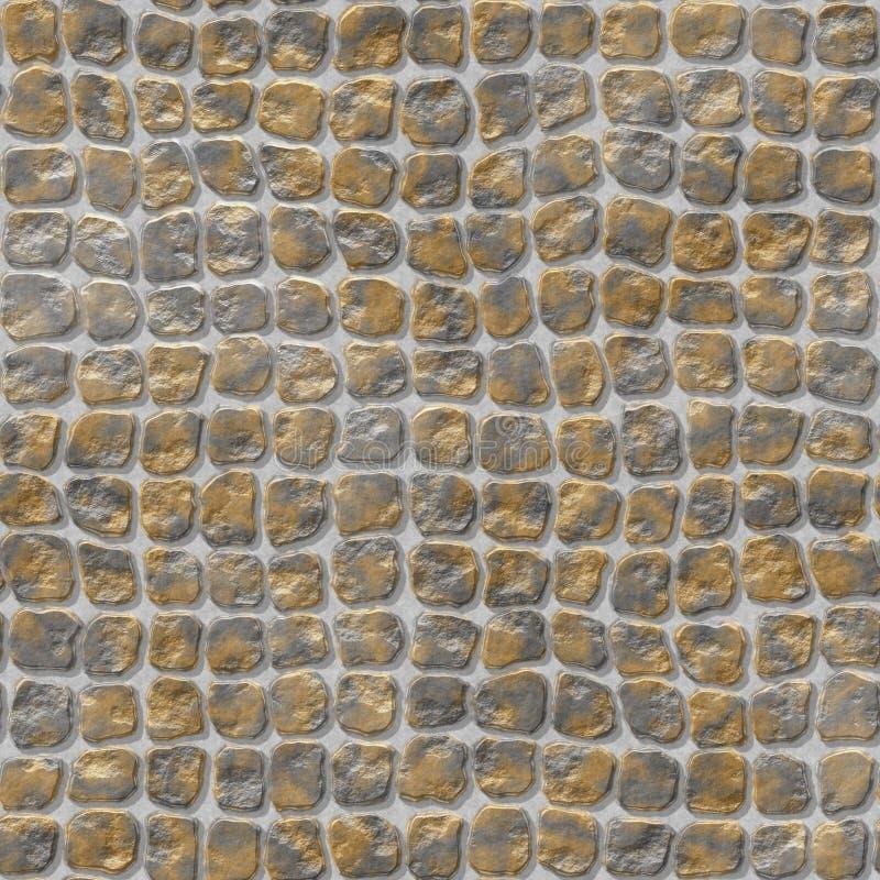 Sömlös bakgrund för naturlig kulör för golvmarmor plast- stenig för mosaik textur för modell med grå färggrout - guld, silver, är stock illustrationer