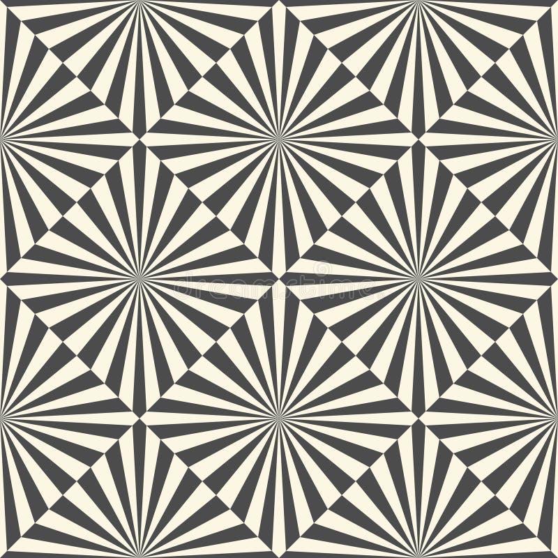Sömlös bakgrund för optisk illusion Fyrkantig vektor och band T stock illustrationer