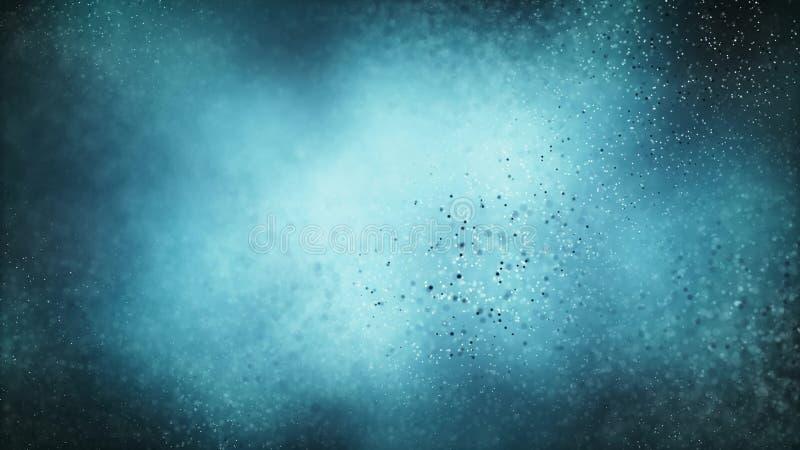 Sömlös bakgrund för partikel på blått vetenskapsbegrepp arkivbild