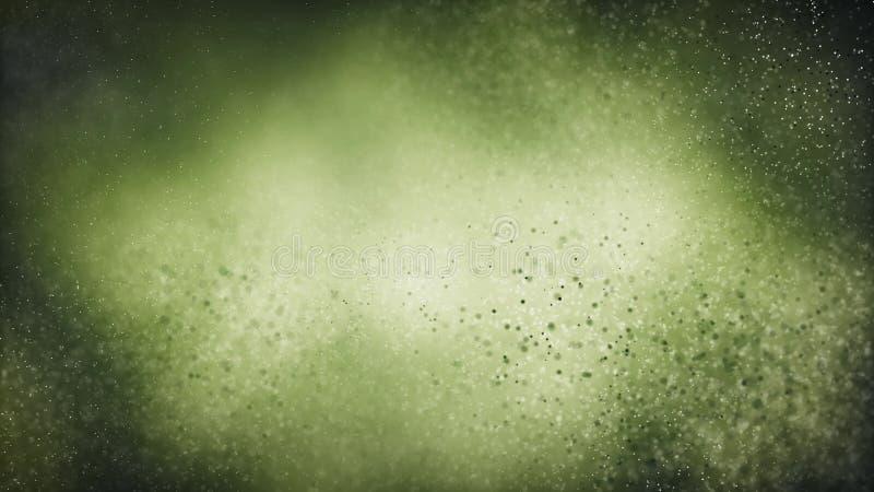 Sömlös bakgrund för partikel på grönt vetenskapsbegrepp royaltyfri foto