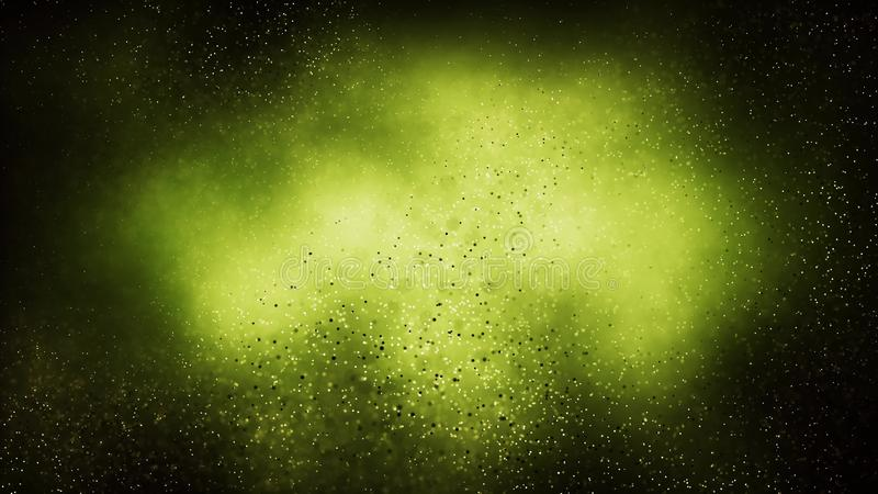 Sömlös bakgrund för partikel på grönt vetenskapsbegrepp arkivbild