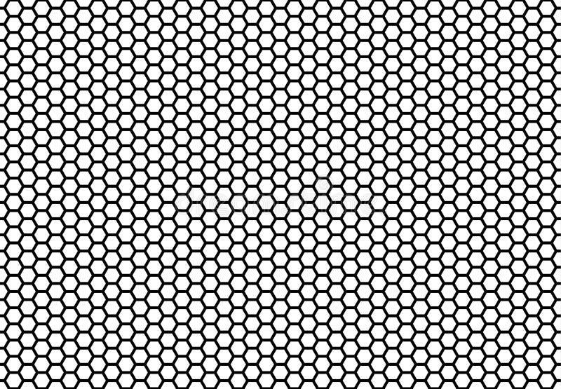Sömlös bakgrund för sexhörningshonungskaka Enkel sömlös modell av celler för bi`-honungskaka illustration vektor geometriskt stock illustrationer