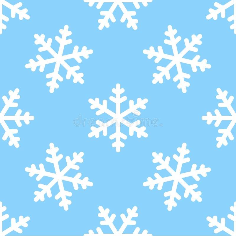Sömlös bakgrund för snöflingamodellvinter stock illustrationer