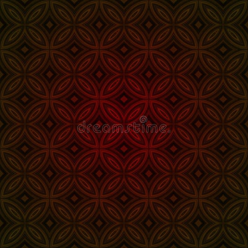 Sömlös bakgrund för tappningprydnadtapet stock illustrationer