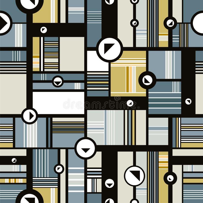 Sömlös bakgrund för Techno stil stock illustrationer