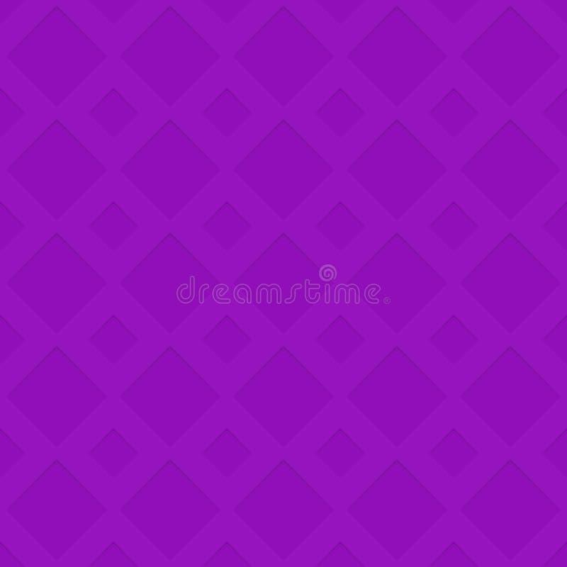 Sömlös bakgrund för textur för modell för perforeringsdiagonalfyrkant - rumslig geometrisk vektorillustration vektor illustrationer