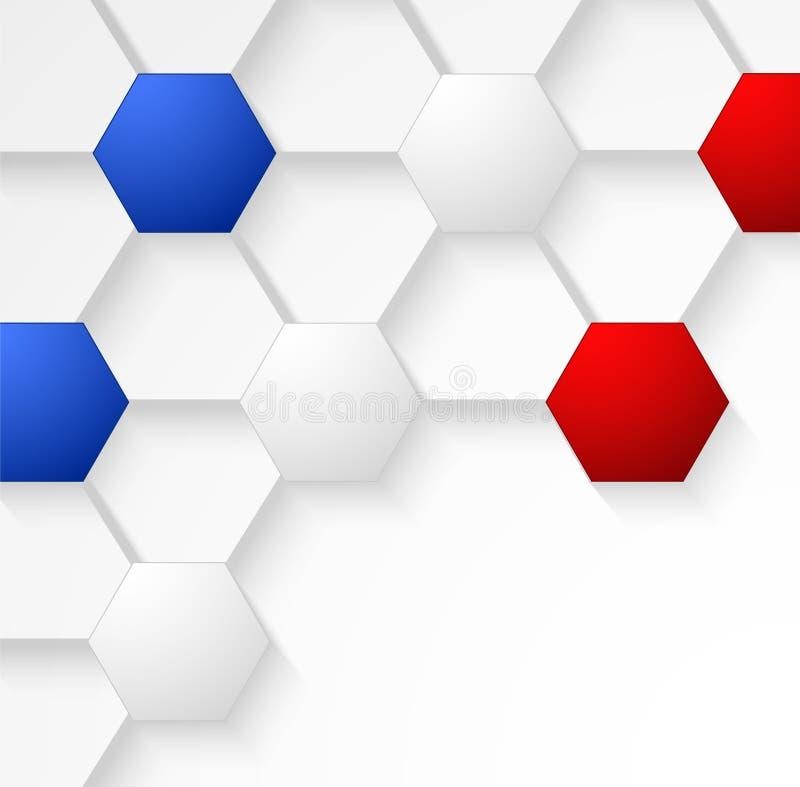 Sömlös bakgrund för texturfotbollbollen med den Frankrike flaggan färgar stock illustrationer