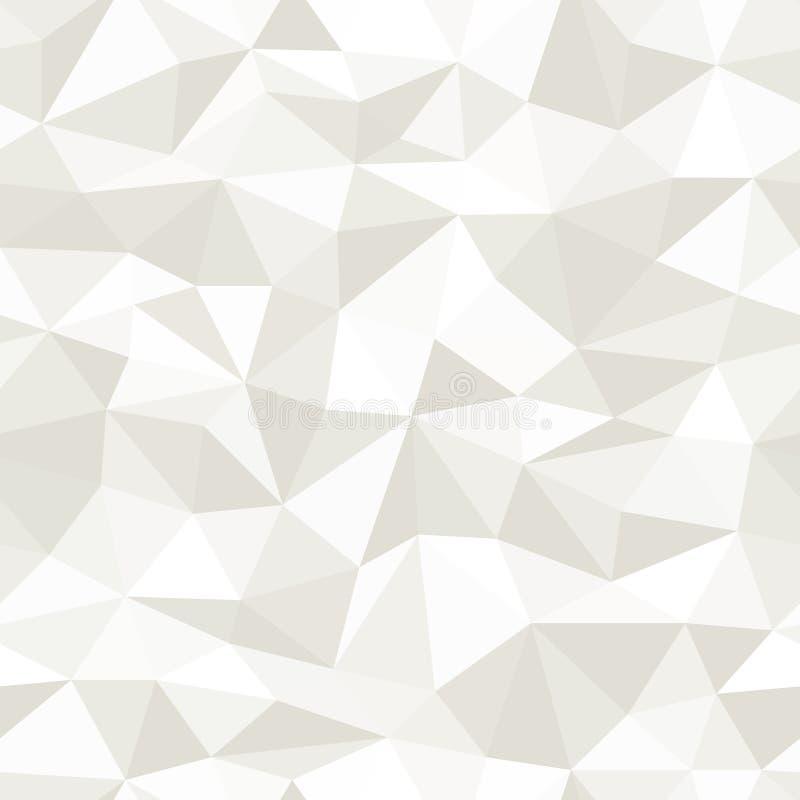 Sömlös bakgrund för vektorpolygonabstrakt begrepp stock illustrationer