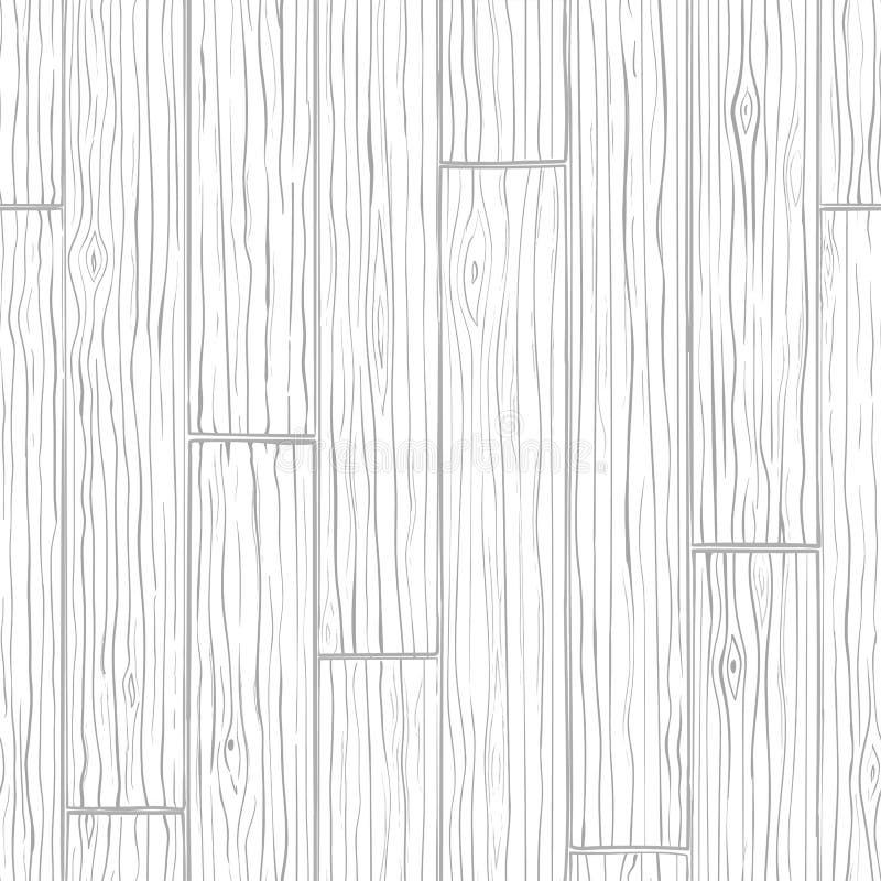 Sömlös bakgrund för Wood textur Grå vektormodell royaltyfri illustrationer