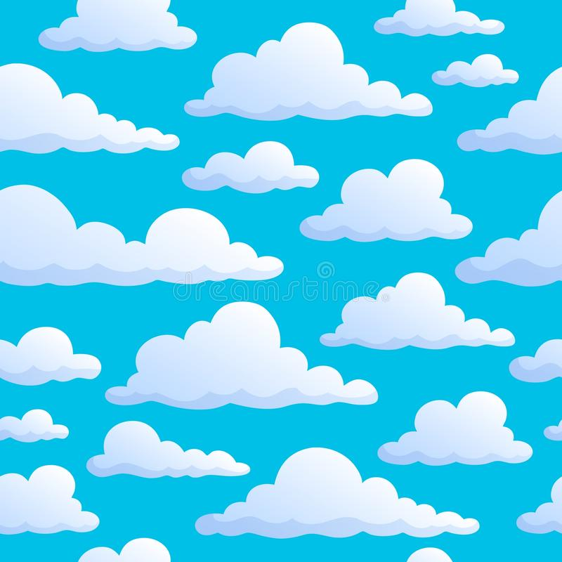 Sömlös bakgrund fördunklar på himmel royaltyfri illustrationer