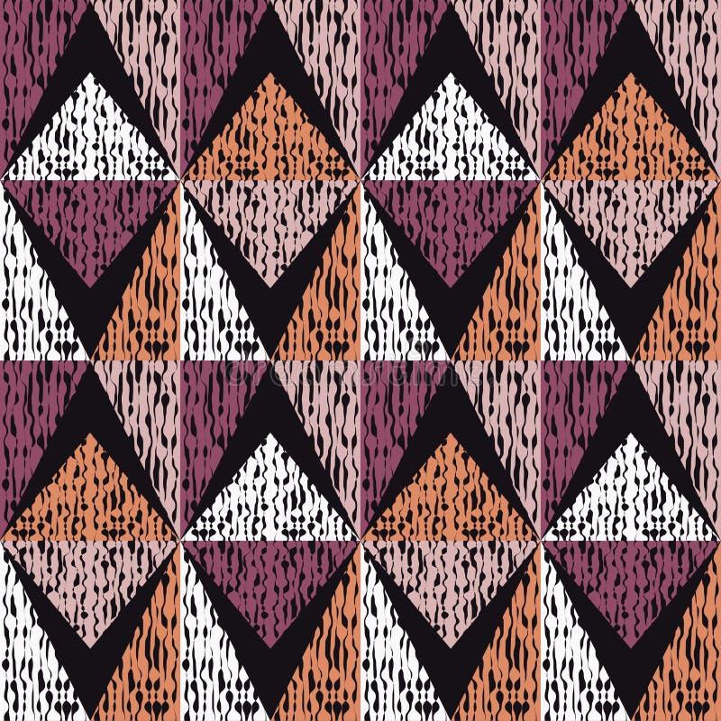Sömlös bakgrund med den abstrakta geometriska modellen Klottra textur royaltyfri illustrationer