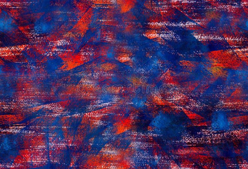Sömlös bakgrund med gouachepenseldrag royaltyfri illustrationer