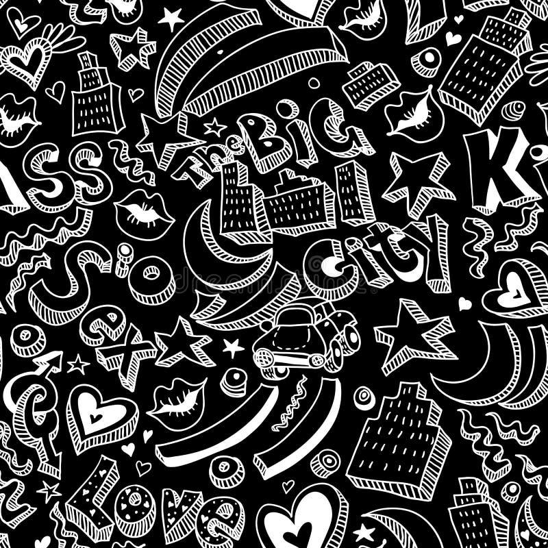 Sömlös bakgrund med kanter, hjärtor stock illustrationer