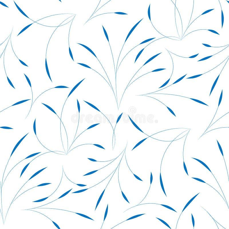 Sömlös bakgrund med tunna filialer av den abstrakta växten Bakgrund för att förpacka, tyg, websitesidor stock illustrationer