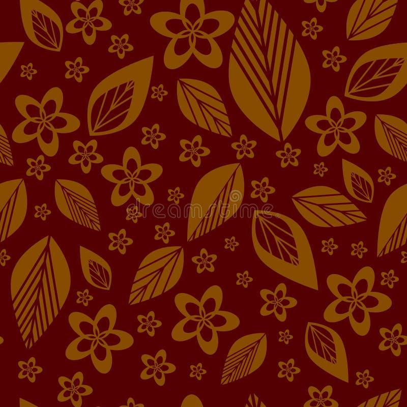 Sömlös bakgrundsvektor för färgrik blomma royaltyfri illustrationer